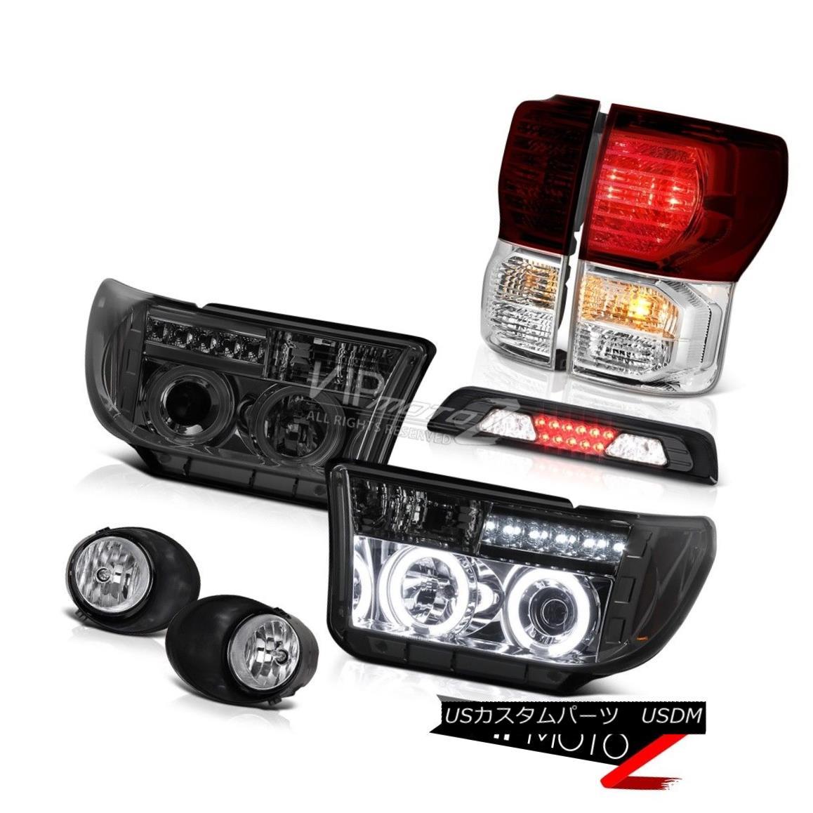 ヘッドライト 2007-2013 Toyota Tundra SR5 Foglamps Smoked Roof Cargo Lamp Tail Lamps Headlamps 2007-2013 Toyota Tundra SR5フォグランプスモーク屋根貨物ランプテールランプヘッドランプ