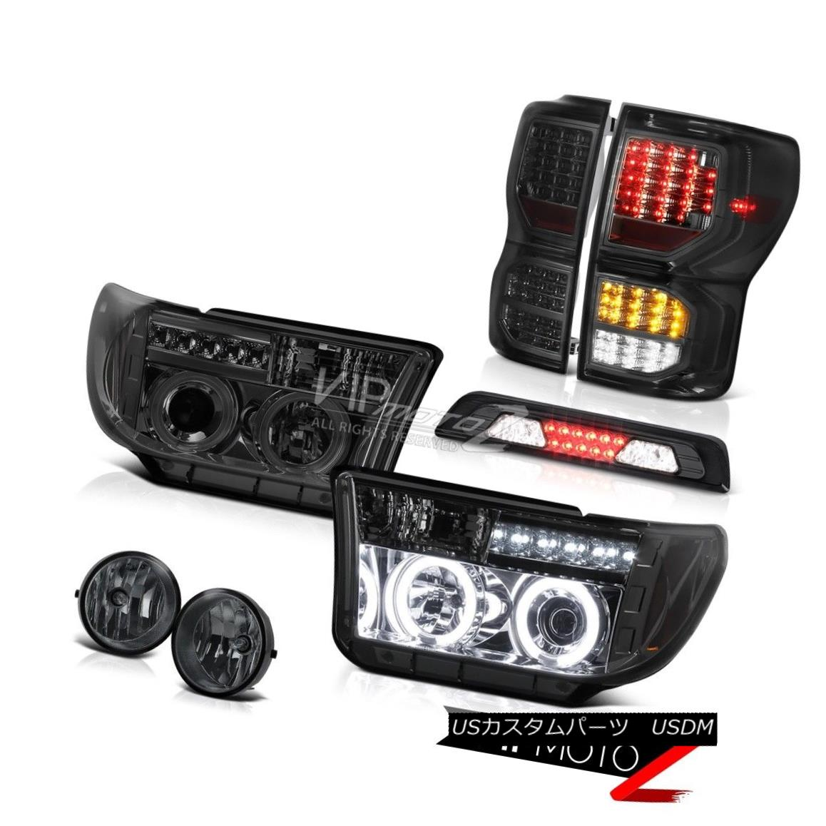 ヘッドライト 07-13 Toyota Tundra SR5 Smoked Taillights High Stop Light Headlights Fog Lamps 07-13トヨタ・トンドラSR5スモーク・テールライトハイストップ・ライト・ヘッドライトフォグランプ
