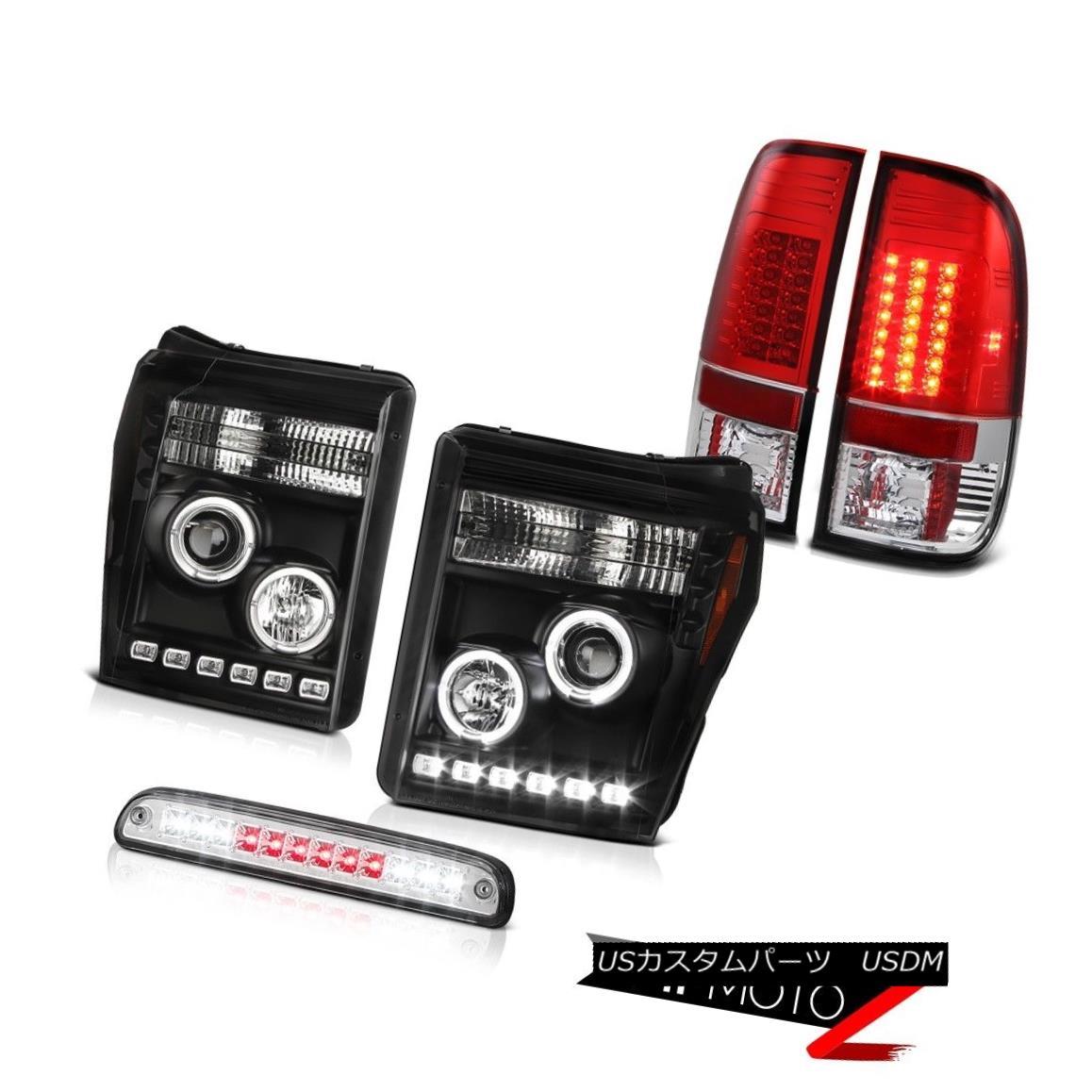 ヘッドライト 11-16 F250 Xl Sterling Chrome Roof Cab Lamp Taillamps Nighthawk Black Headlamps 11-16 F250 X1スターリングクロームルーフキャブランプタイルランプナイトホークブラックヘッドランプ