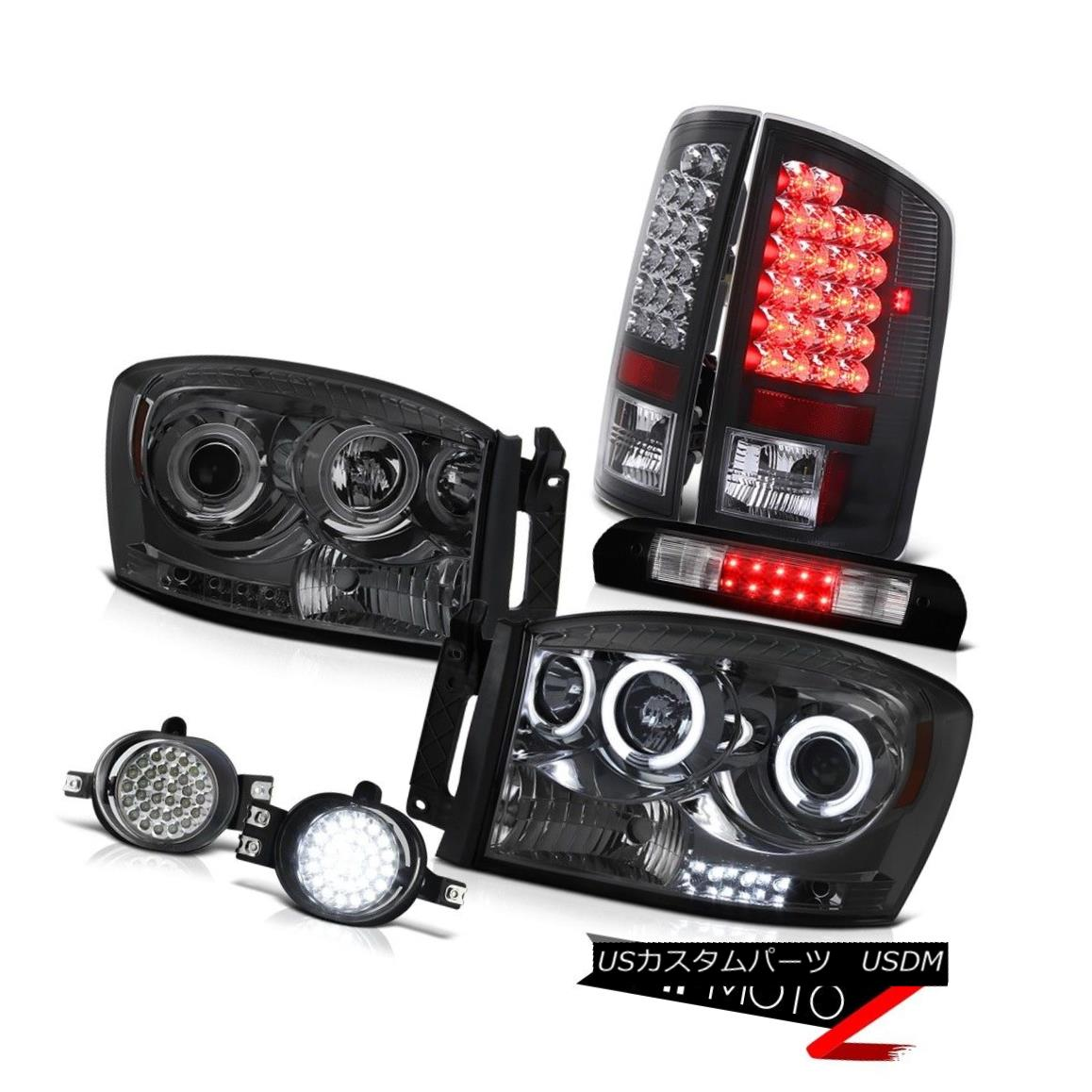 ヘッドライト Brightest CCFL Headlights L.E.D Tail Lights DRL Fog Kit 2006 Dodge Ram Magnum V8 最も明るいCCFLヘッドライトL.E.DテールライトDRLフォグキット2006 Dodge Ram Magnum V8