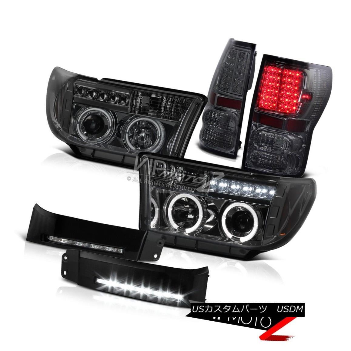 ヘッドライト [SMOKE] 07-13 Tundra 5.7L V8 Angel Eye Headlight LED Tail Light DRL Driving Lamp [SMOKE] 07-13 Tundra 5.7L V8エンジェルアイヘッドライトLEDテールライトDRLドライビングランプ