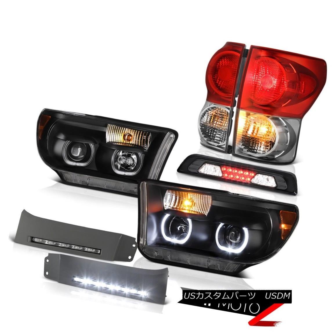 ヘッドライト 07-13 Toyota Tundra SR5 Headlights Bumper DRL Smoked Roof Cab Light Taillamps 07-13トヨタトンドラSR5ヘッドランプバンパーDRLスモークルーフキャブライトテールランプ