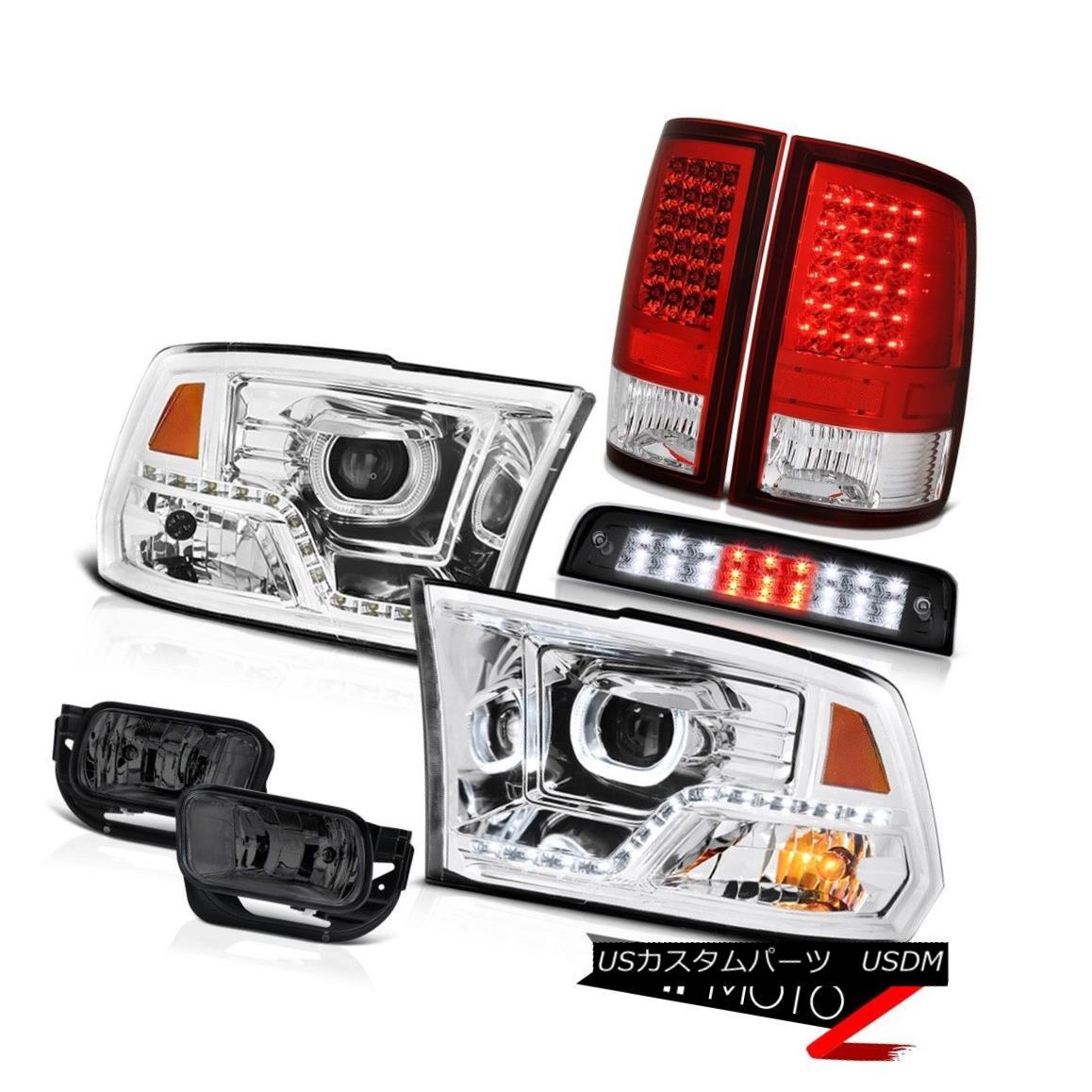 ヘッドライト 09 10 11-18 Dodge RAM 2500 Black Brake Lights DRL Headlamps Fog Lamp Tail Light 09 10 11-18ダッジRAM 2500ブラックブレーキライトDRLヘッドライトフォグランプテールライト