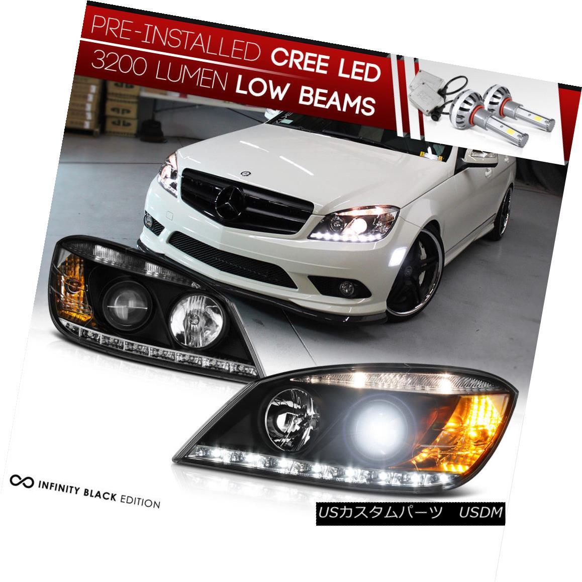 ヘッドライト [BUILT-IN LED LOW BEAM] 2008-2011 Mercedes-Benz W204 C