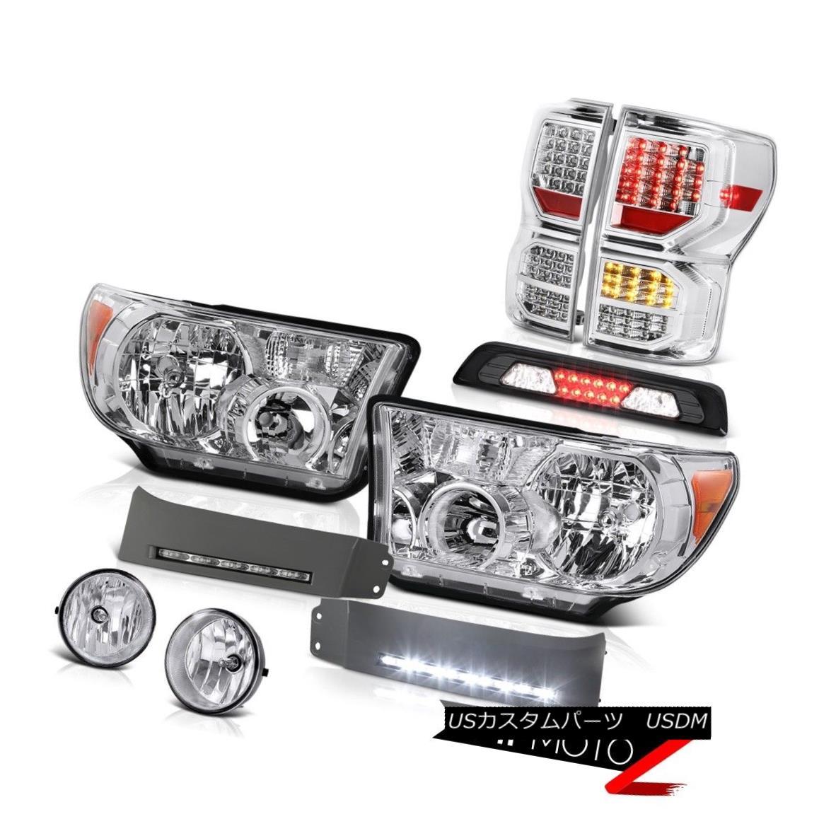 ヘッドライト 07-13 Tundra Platinum Rear Brake Lights Headlamps DRL Strip Roof Lamp Foglamps 07-13 Tundra PlatinumリアブレーキライトヘッドランプDRLストリップ屋根ランプフォグランプ