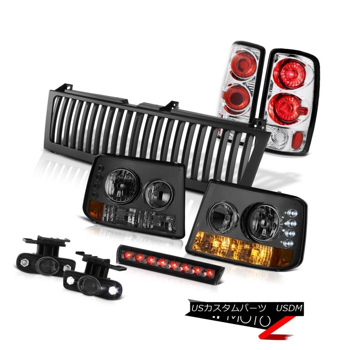ヘッドライト Signal Headlights Rear Taillamps Halo Fog 3rd LED Black 2000-2006 Chevy Tahoe シグナルヘッドライトリアタイヤルプスHalo Fog 3rd LED Black 2000-2006 Chevy Tahoe