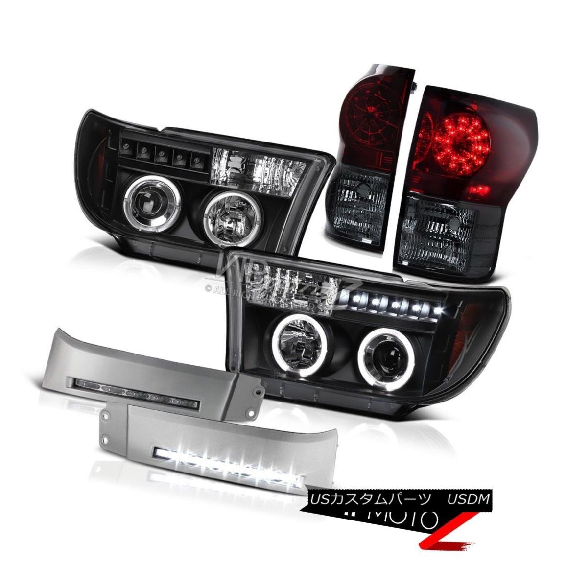 ヘッドライト 2007-2013 Tundra Extended Standard Crew Wine Red Tail Light Halo Headlights LED 2007-2013 Tundra Extended StandardクルーワインレッドテールライトHaloヘッドライトLED