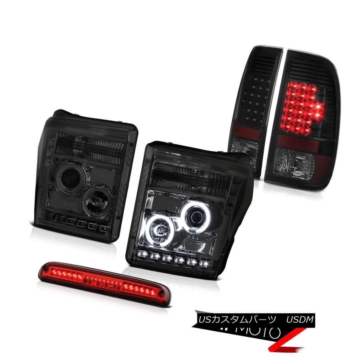 ヘッドライト 11-16 F250 Platinum Red Roof Cab Light Smoke Tinted Tail Lamps Headlamps Newest 11-16 F250プラチナレッドルーフキャブライトスモークティンテッドランプヘッドランプ最新