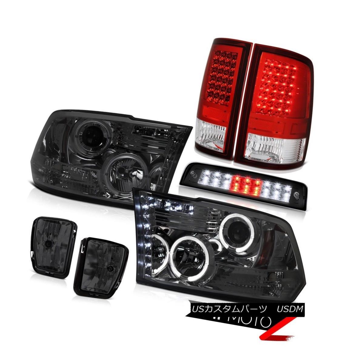 ヘッドライト 13-18 Ram 1500 Lone Star Roof Cab Light Smokey Fog Lamps Tail Headlamps Halo Rim 13-18ラム1500ローンスタールーフキャブライトスモーキーフォグランプテールヘッドランプハローリム