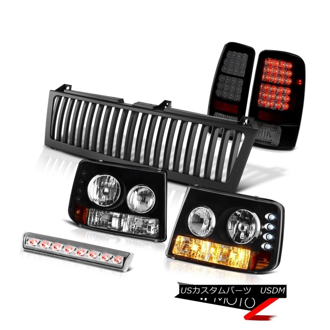 ヘッドライト 2000-2006 Suburban LS Black Headlight Sinister Taillight High Stop Chrome Grille 2000-2006郊外LSブラックヘッドライト邪悪なテールライトハイストップクロムグリル