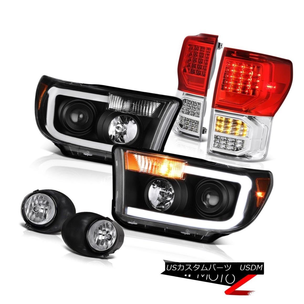 ヘッドライト 2007-2013 Toyota Tundra Limited Wine Red Taillamps Headlights Fog Lights Newest 2007-2013トヨタ・トンドラ限定ワイン・レッド・タイルランプヘッドライトフォグ・ライト最新