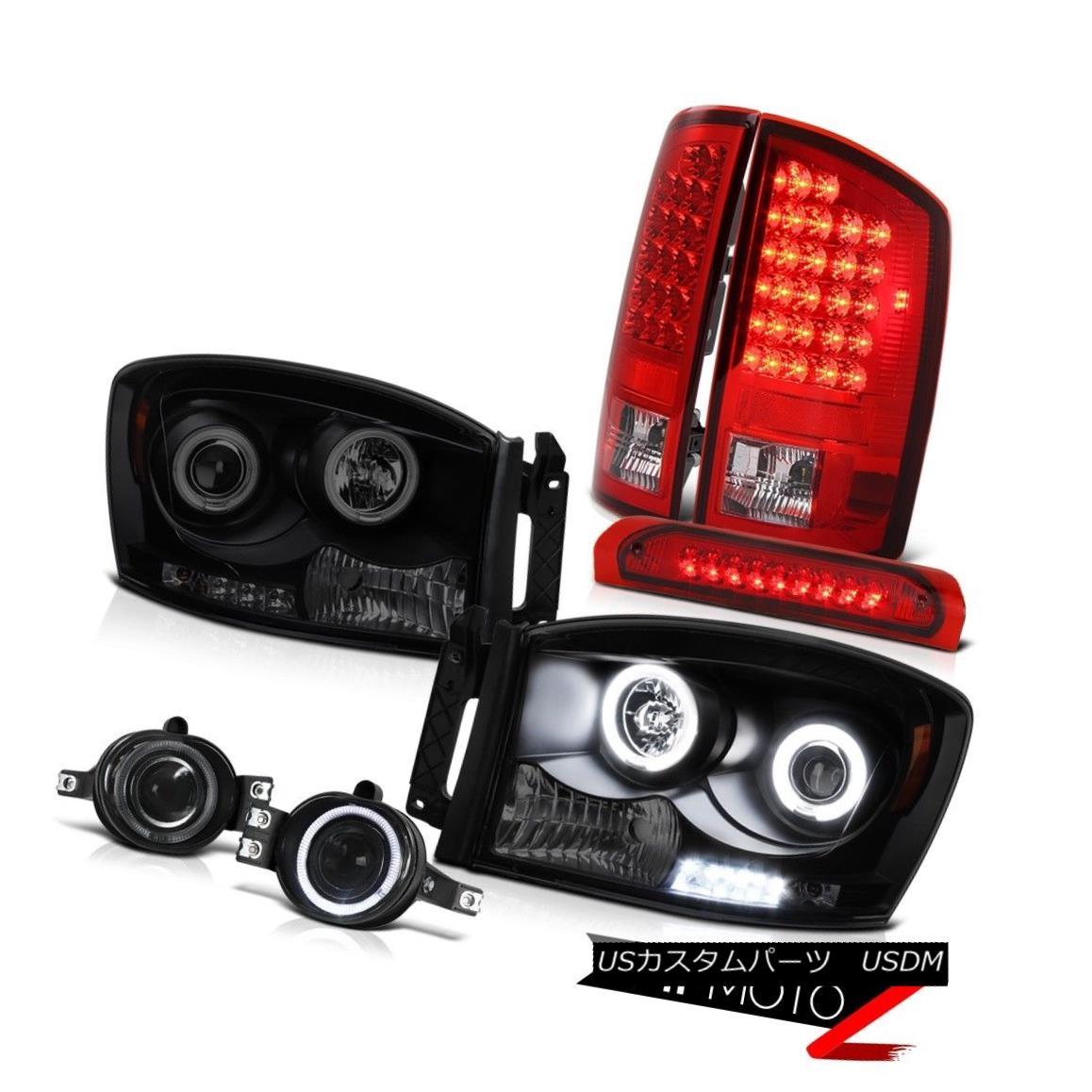 ヘッドライト Headlights w/ CCFL Halo Ring Foglights Top Mount Brake Lamps 2006 Dodge Ram 5.7L CCFL Haloリングフォグライト搭載ヘッドライトトップマウントブレーキランプ2006 Dodge Ram 5.7L