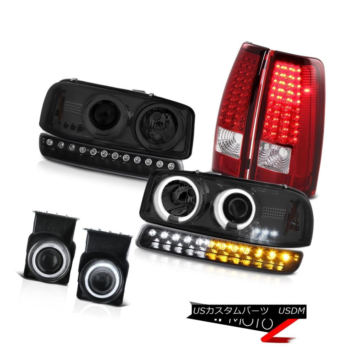 ヘッドライト 03 04 05 06 Sierra 2500HD Fog lamps red tail lights turn signal ccfl headlamps 03 04 05 06 Sierra 2500HDフォグランプ赤いテールライトturn信号ccflヘッドランプ