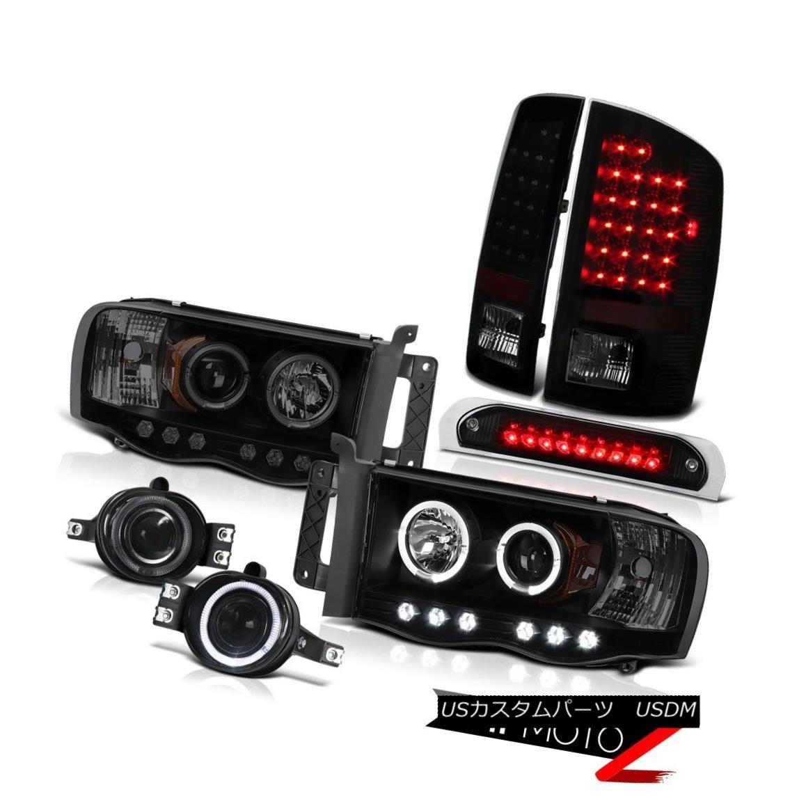 ヘッドライト Halo LED Headlights L.E.D Rear Tail Lights Fog High Brake Cargo 2002-2005 Ram V6 ハローLEDヘッドライトL.E.Dリアテールライトフォッグハイブレーキカーゴ2002-2005 Ram V6