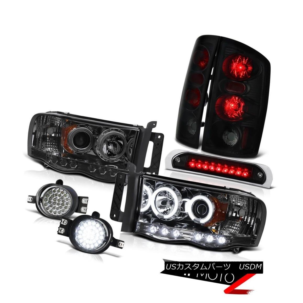 ヘッドライト 02 03 04 05 Ram 1500 Projector Sinister Black Tail Lamps LED DRL Fog Third Brake 02 03 04 05ラム1500プロジェクター邪悪な黒テールランプLED DRLフォグ第3ブレーキ