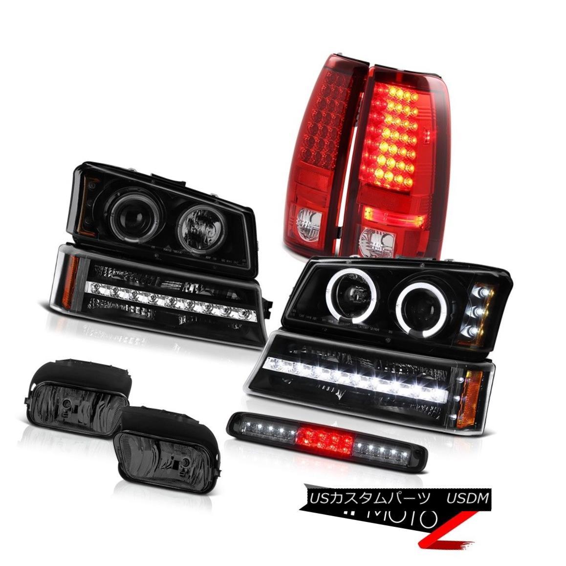 ヘッドライト 03-06 Silverado Foglights Roof Cab Lamp Bumper Headlights Red Clear Taillights 03-06 Silveradoフォグライトルーフキャブランプバンパーヘッドライトレッドクリアテールライト
