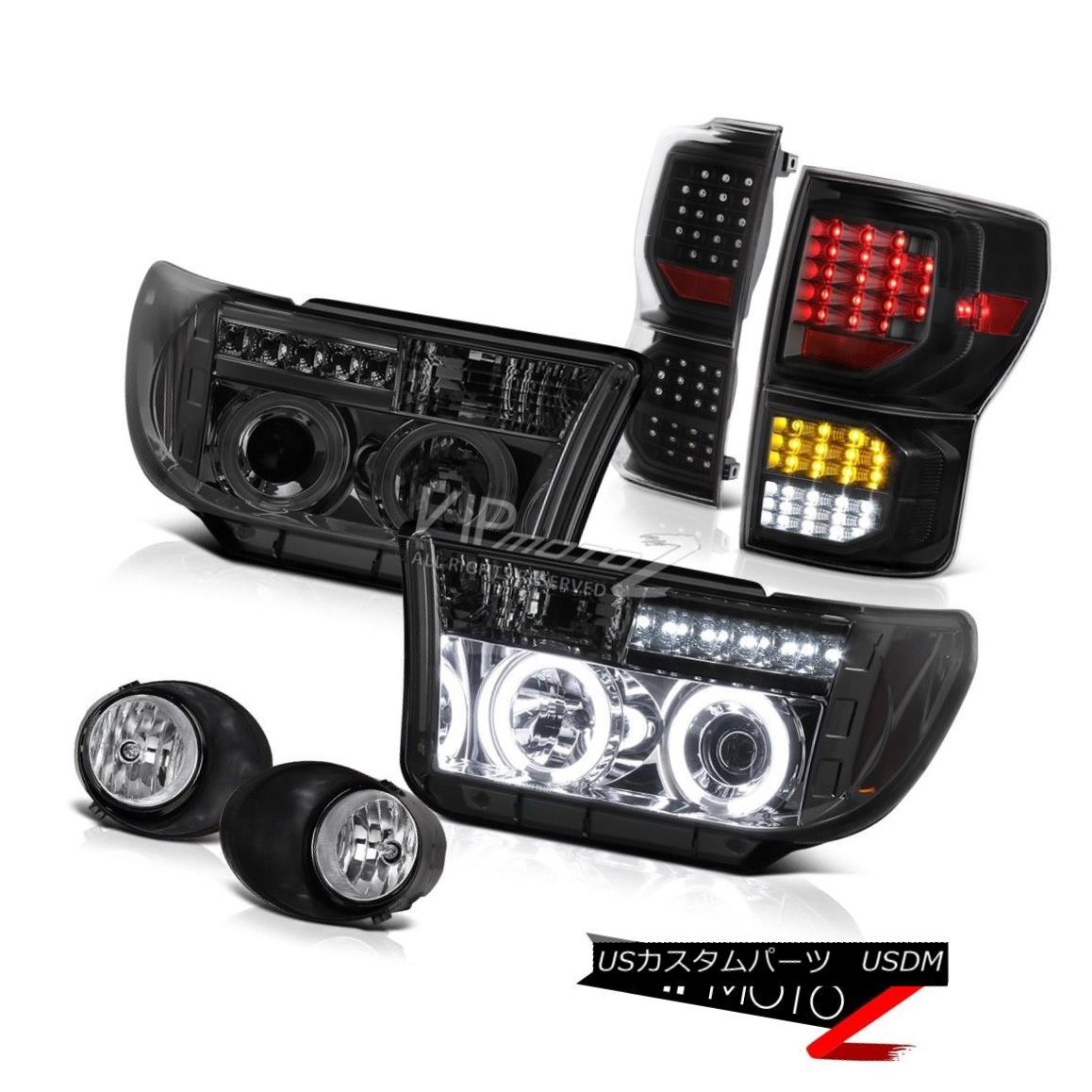 ヘッドライト 07-13 Toyota Tundra Limited Matte Black Tail Lamps Fog Lights Headlamps SMD Cool 07-13 Toyota Tundra LimitedマットブラックテールランプフォグライトヘッドランプSMD Cool