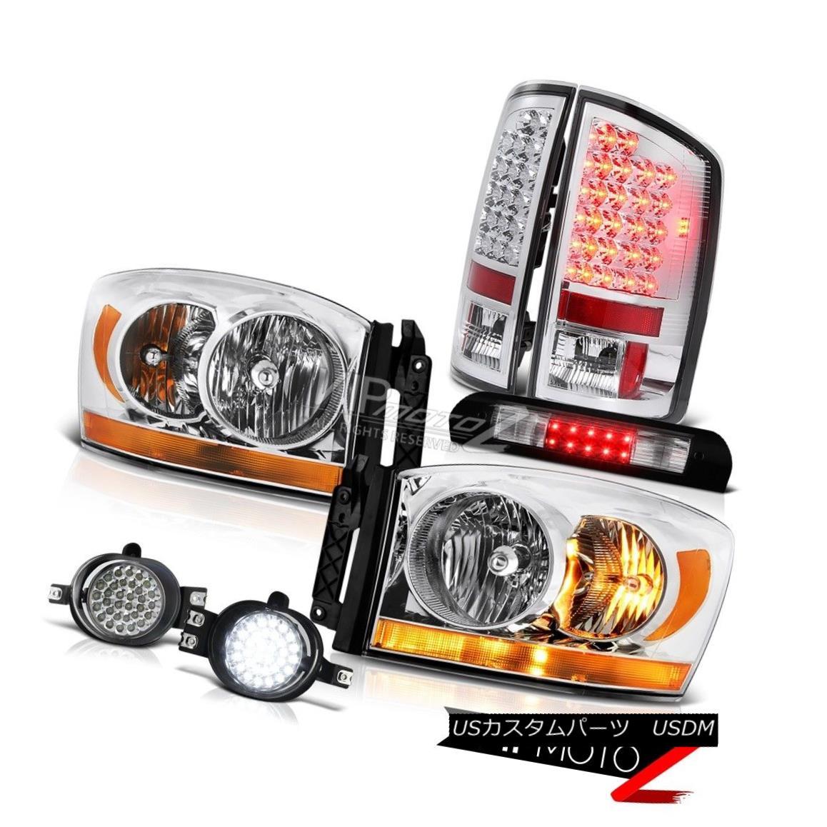 ヘッドライト 07-09 Dodge Ram 2500 3500 Ws Headlamps Foglamps Third Brake Light Tail Lamps 07-09ダッジラム2500 3500 Wヘッドランプフォグランプ第3ブレーキライトテールランプ