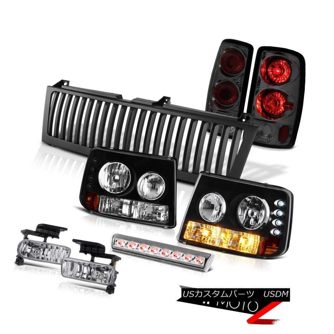 ヘッドライト Headlights Tail Brake Lamps Euro Fog High LED Chrome Black 00-06 Suburban 6.0L ヘッドライトテールブレーキランプユーロフォグハイLEDクロームブラック00-06郊外6.0L