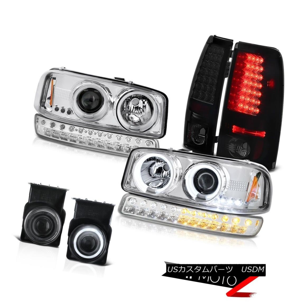 ヘッドライト 03-06 Sierra 1500 Phantom Smoke Fog Lamps SMD Tail Signal Light CCFL Headlights 03-06 Sierra 1500ファントム煙霧ランプSMDテールシグナルライトCCFLヘッドライト