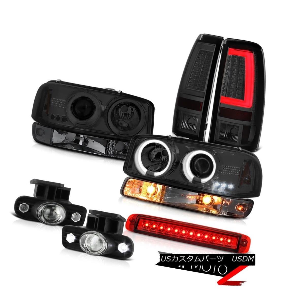 ヘッドライト 99-02 Sierra 4.3L Tail Lamps High Stop Lamp Signal Fog CCFL Headlamps Angel Eyes 99-02 Sierra 4.3LテールランプハイストップランプシグナルフォグCCFLヘッドランプエンジェルアイズ