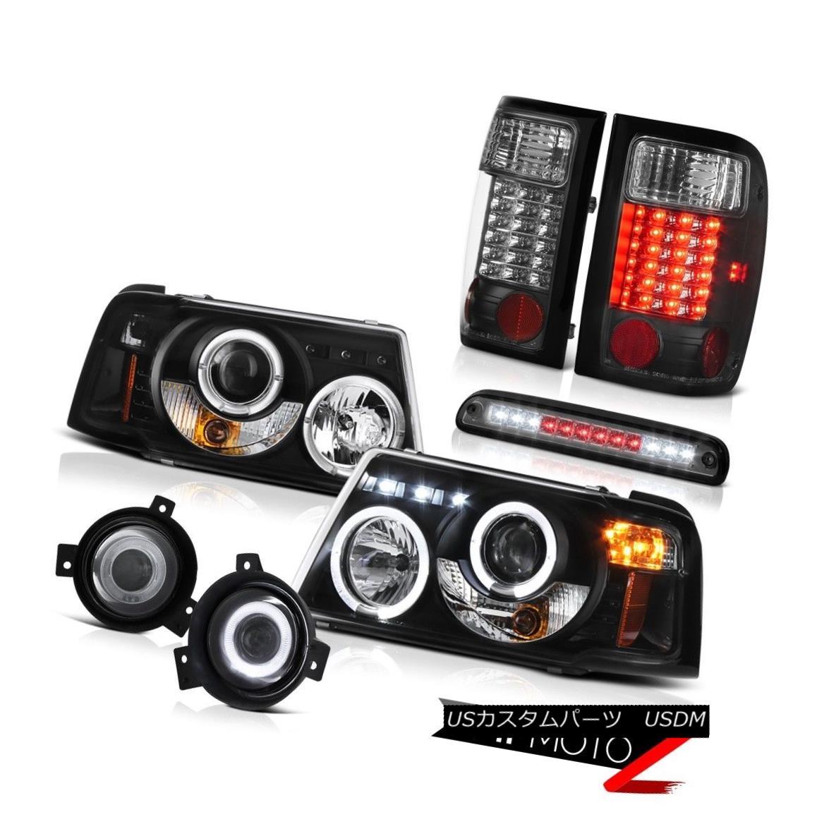 ヘッドライト 01-03 Ranger 2.3L Dual Rim Headlight Brake LED Light Chrome Foglights High Cargo 01-03レンジャー2.3LデュアルリムヘッドライトブレーキLEDライトクロームフォグライトハイカーゴ