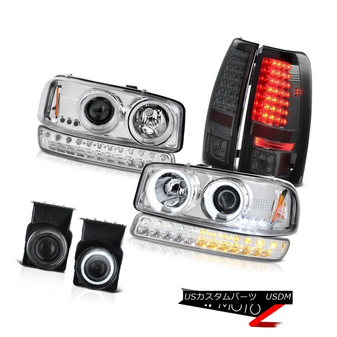 ヘッドライト 03 04 05 06 GMC Sierra Smoked Fog Lights Parking Brake Signal Light Headlamps 03 04 05 06 GMC Sierraスモークフォグライトパーキングブレーキシグナルライトヘッドランプ