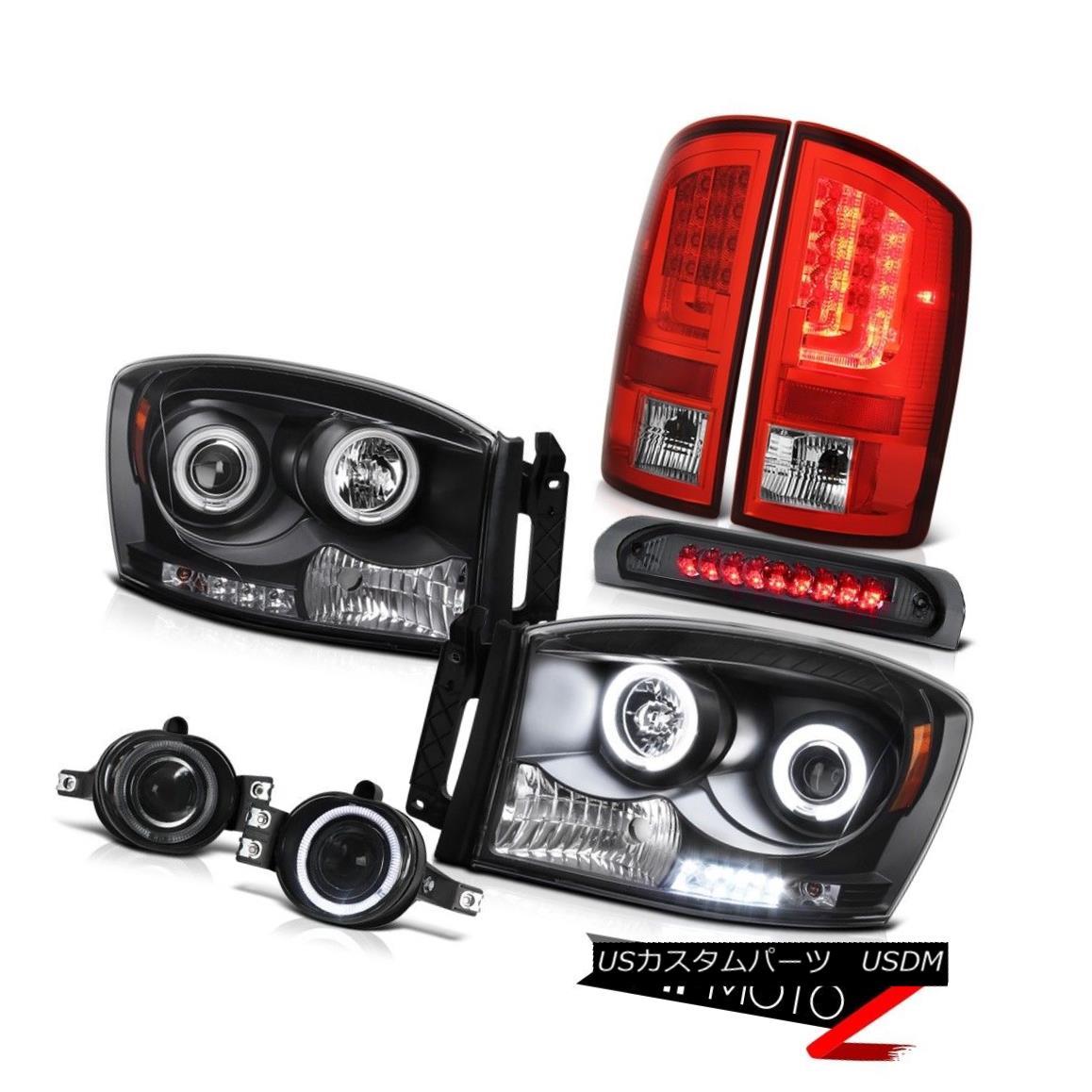 ヘッドライト 2006 Ram 4.7L Red Taillamps Headlamps Phantom Smoke Fog Lights 3RD Brake Lamp 2006ラム4.7Lレッドタイルランプヘッドランプファントムスモークフォグライト3RDブレーキランプ