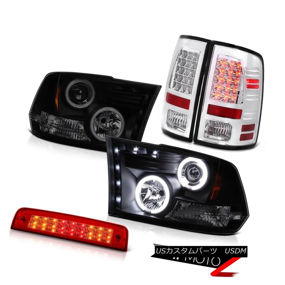 ヘッドライト 2010-2018 Ram 3500 Laramie Third Brake Lamp Rear Lights Headlights LED CCFL Halo 2010-2018 Ram 3500 Laramie第3ブレーキランプリアライトヘッドライトLED CCFL Halo
