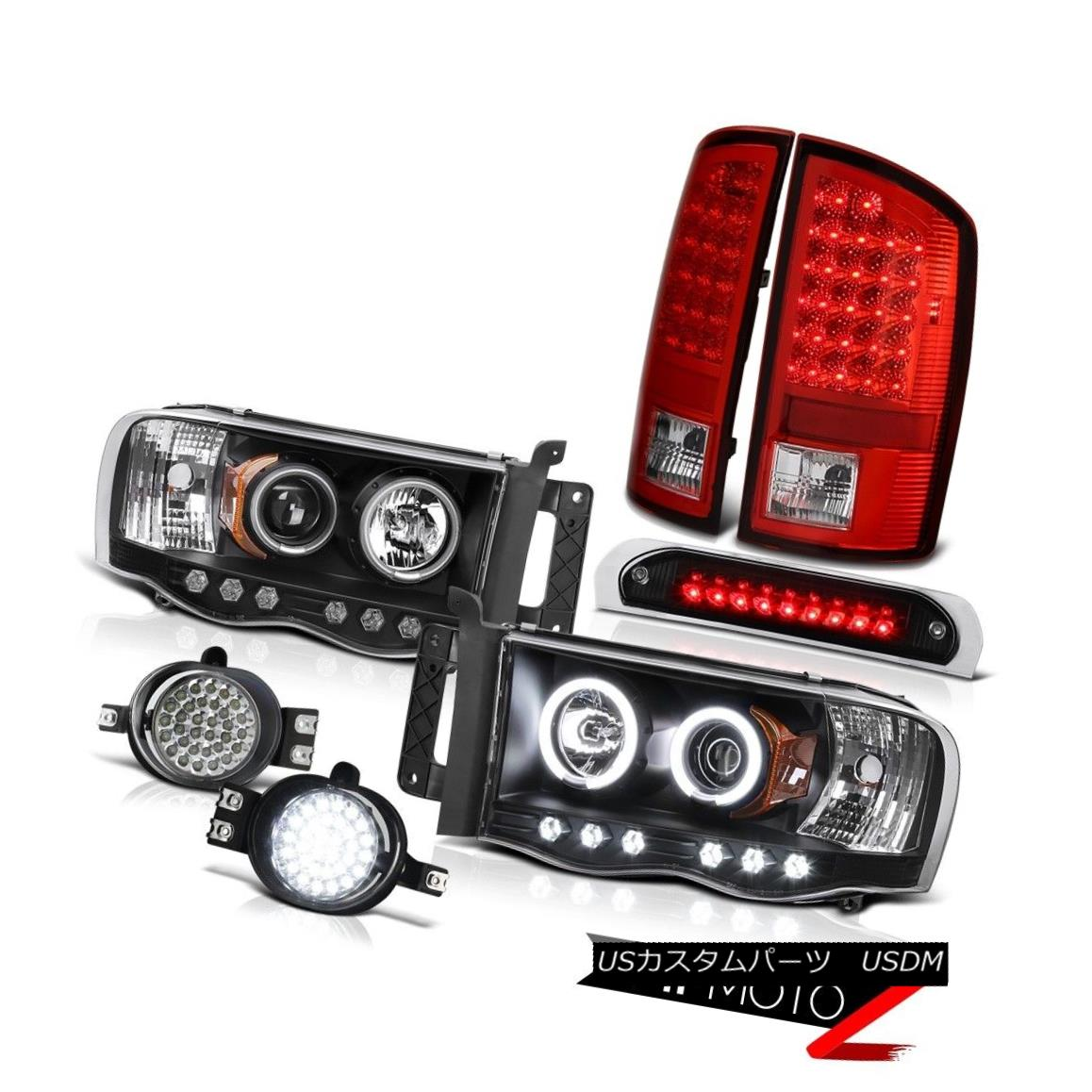 ヘッドライト 2002-2005 Ram 1500 Devil CCFL Ring Headlight LED Tail Lights Fog 3rd Brake Cargo 2002-2005 Ram 1500 Devil CCFLリングヘッドライトLEDテールライトフォグ3rdブレーキカーゴ