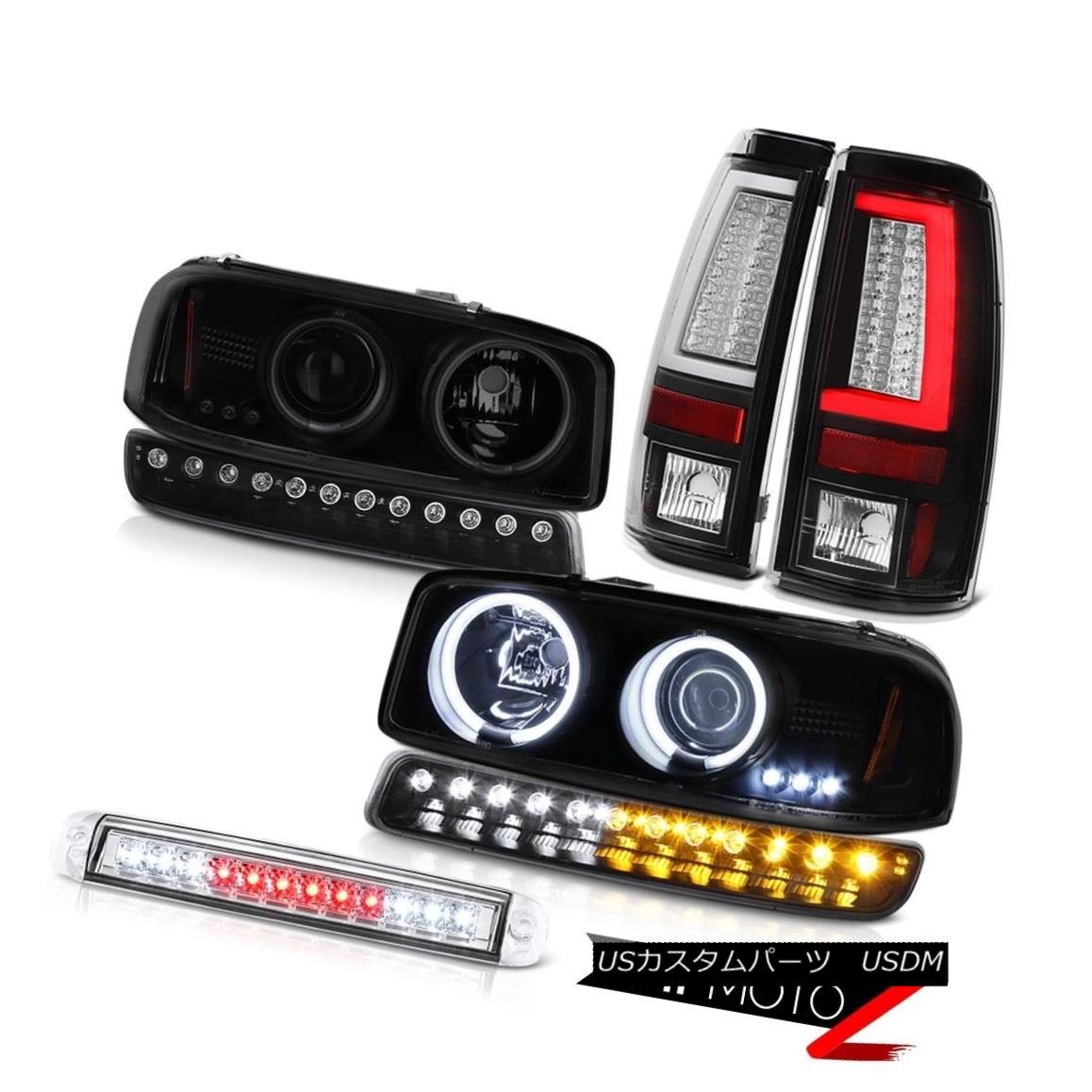 ヘッドライト 99-06 Sierra SLE Tail Lamps Third Brake Lamp Bumper CCFL Headlamps
