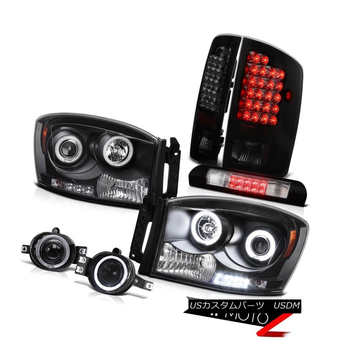 ヘッドライト 07 08 Ram ST [BRIGHTEST] CCFL Angel Eye Headlight LED Tail Light Fog Third Brake 07 08 Ram ST [BRIGHTEST] CCFLエンジェルアイヘッドライトLEDテールライトフォグ第3ブレーキ