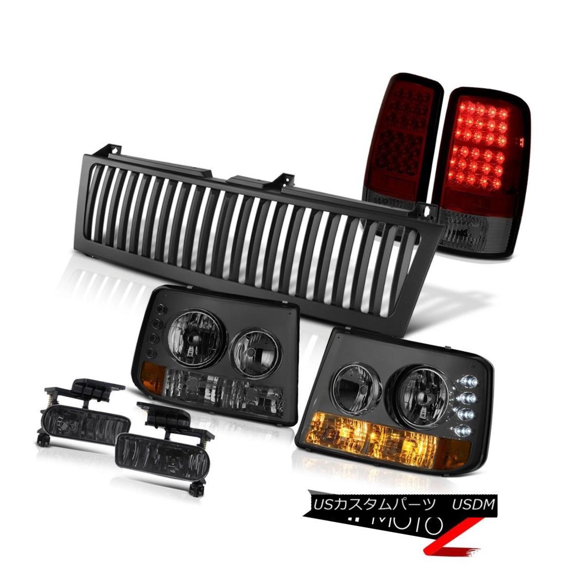 ヘッドライト 00-06 Tahoe Tinted Parking Headlamp Signal Brake Tail Light LED Black Fog Grille 00-06 Tahoe Tinted Parkingヘッドランプ信号ブレーキテールライトLED Black Fog Grille