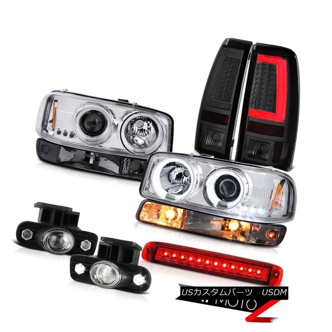 ヘッドライト 99-02 Sierra 1500 Taillights Roof Cargo Lamp Bumper Foglights CCFL Headlamps LED 99-02 Sierra 1500テールライトルーフカーゴランプバンパーフォグライトCCFLヘッドライトLED