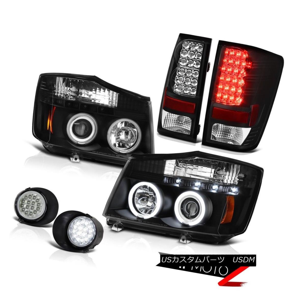 ヘッドライト For 2004-2015 Titan S Angel Eye CCFL Headlamps LED Taillamps Driving Foglights 2004年?2015年タイタンSエンジェルアイCCFLヘッドランプLEDタイルランプフォグライト