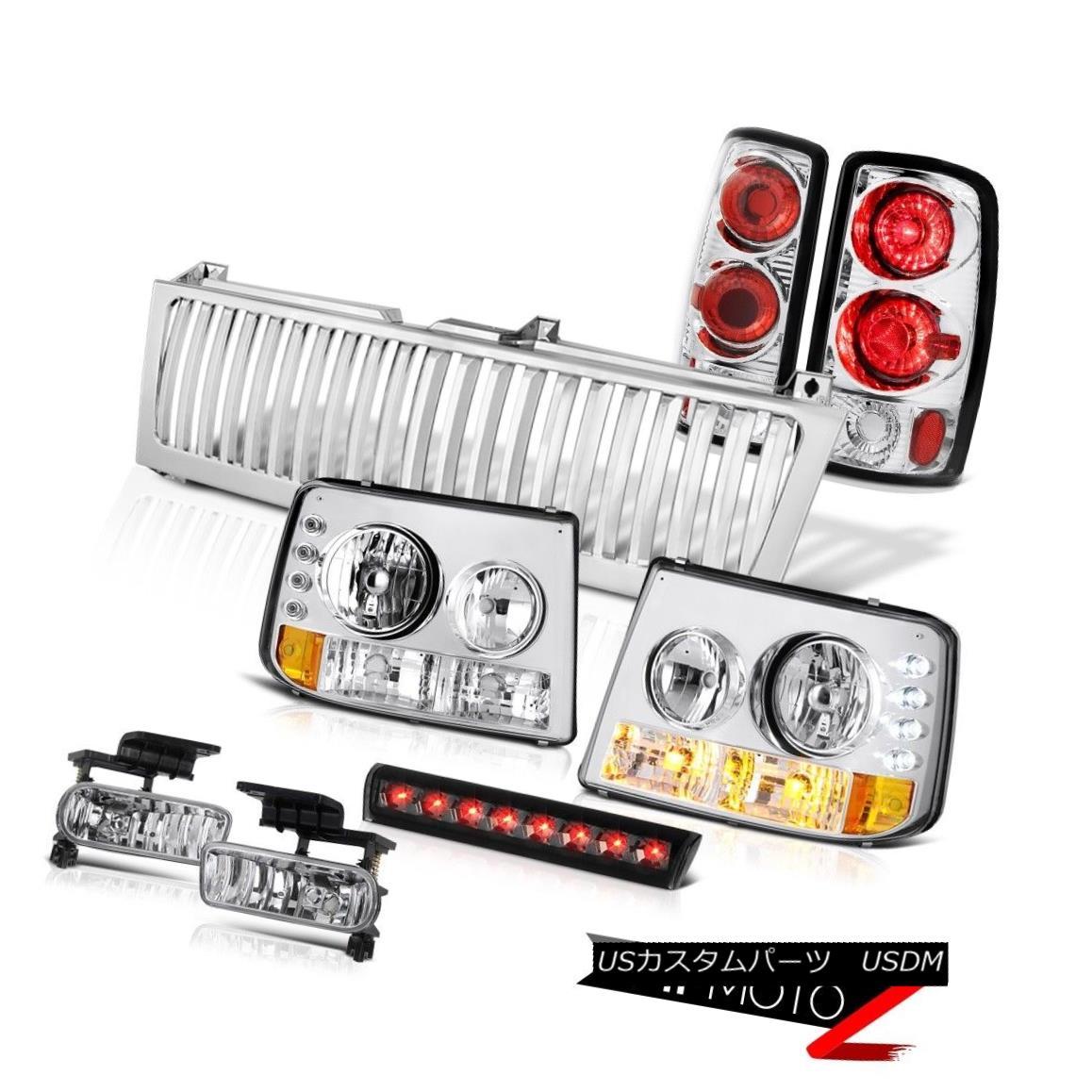 ヘッドライト 2000-06 Suburban 1500 Headlights Euro Rear Taillamps Chrome Fog Stop LED Tinted 2000-06郊外1500ヘッドライトユーロリア・タイヤランクローム・フォグ・ストップLED Tinted