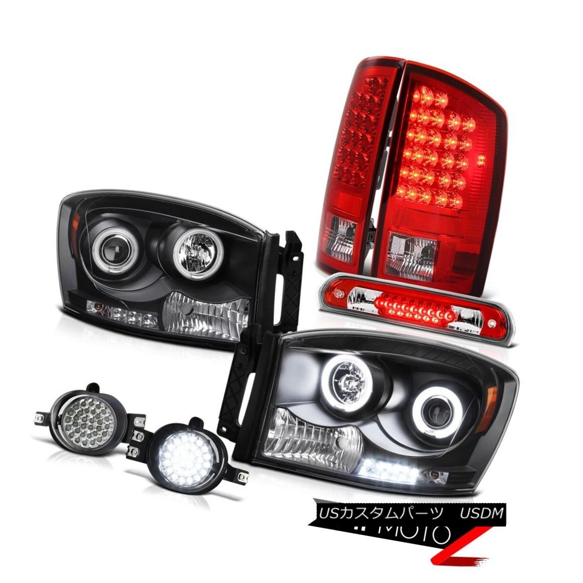 ヘッドライト Devil's Eye CCFL Headlights Red LED Tail Lights Fog 2006 Dodge Ram TurboDiesel 悪魔の目CCFLヘッドライト赤LEDテールライトフォグ2006 Dodge Ram TurboDiesel