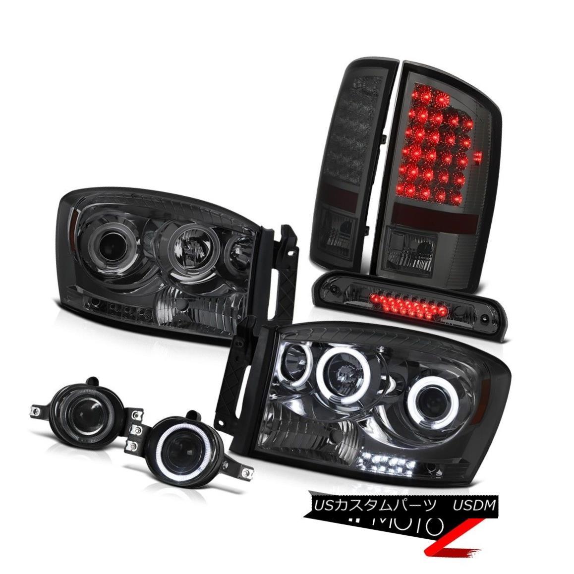 ヘッドライト Tinted CCFL DRL Halo Headlights Smoke LED Tail Lamps Fog 3rd Brake 2006 Ram SLT 着色CCFL DRL HaloヘッドライトスモークLEDテールランプフォグ第3ブレーキ2006 Ram SLT