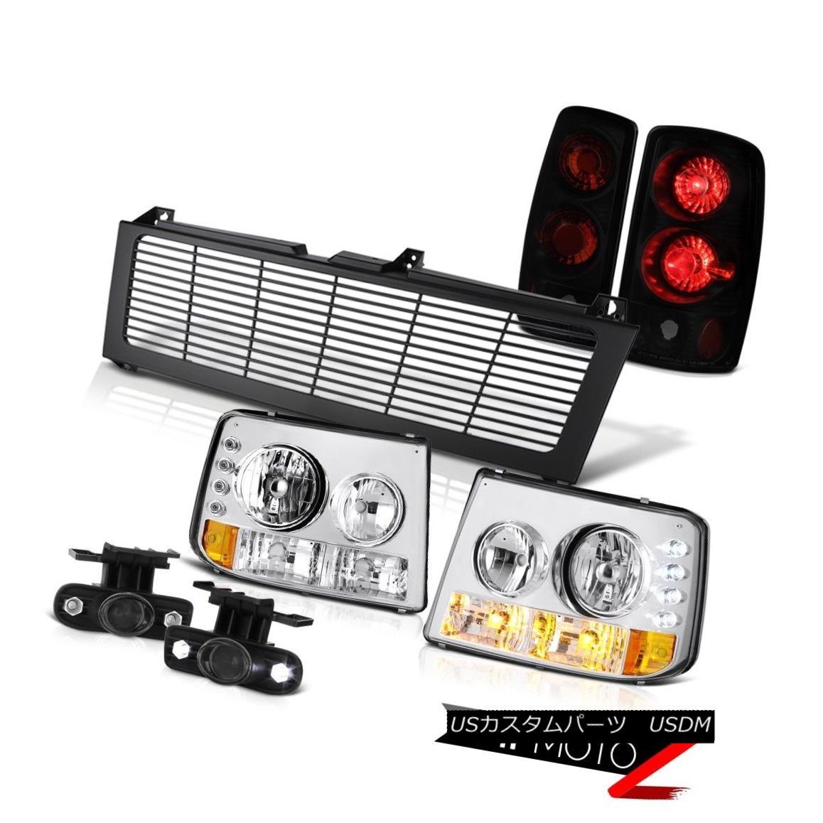 ヘッドライト 00 01 02 03 04 05 06 Suburban Headlamp Darkest Taillight Bumper Fog Black Grille 00 01 02 03 04 05 06郊外ヘッドランプダークテイルティアライトバンパーフォグブラックグリル
