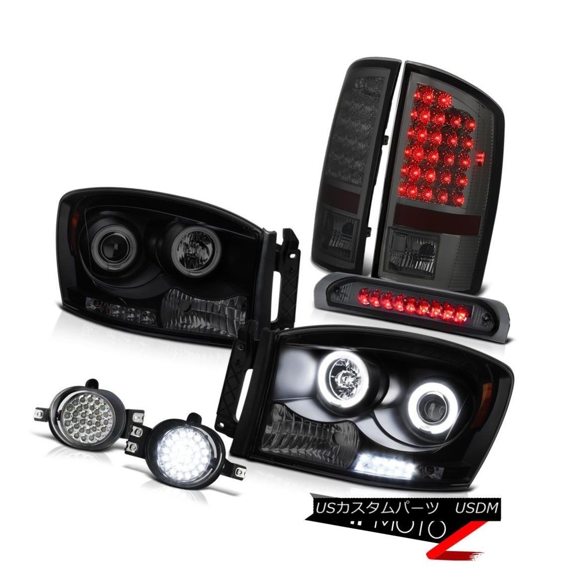 ヘッドライト DODGE RAM 2006 [BRIGHTEST] CCFL Halo Rim Headlights Lamp Third Brake Tail Lights DODGE RAM 2006 [鮮やか] CCFL Halo RimヘッドライトランプThird Brake Tail Lights