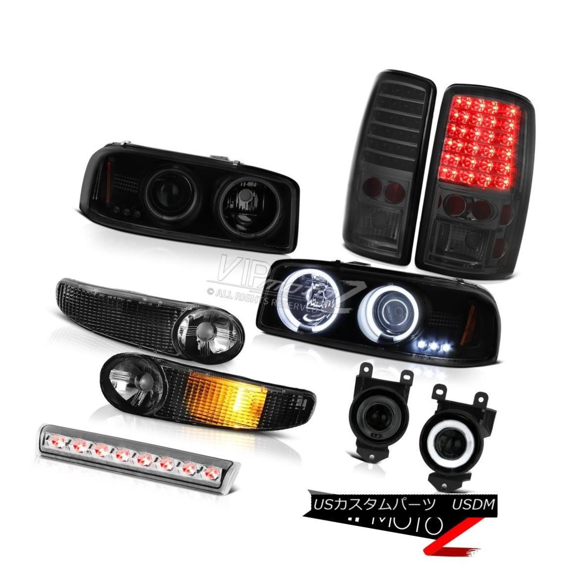 ヘッドライト 01-06 Yukon Halo Headlight Bumper Tail Lights Driving Fog Clear 3rd Brake Lamp 01-06ユーコンヘイローヘッドライトバンパーテールライトドライビングフォグクリア第3ブレーキランプ