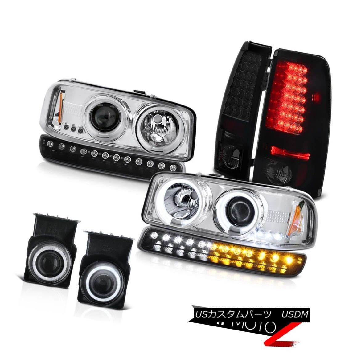 ヘッドライト 03-06 Sierra WT Fog lamps led tail brake parking light ccfl projector Headlamps 03-06シエラWTフォグランプはテールブレーキパーキングライトccflプロジェクターヘッドランプを導いた