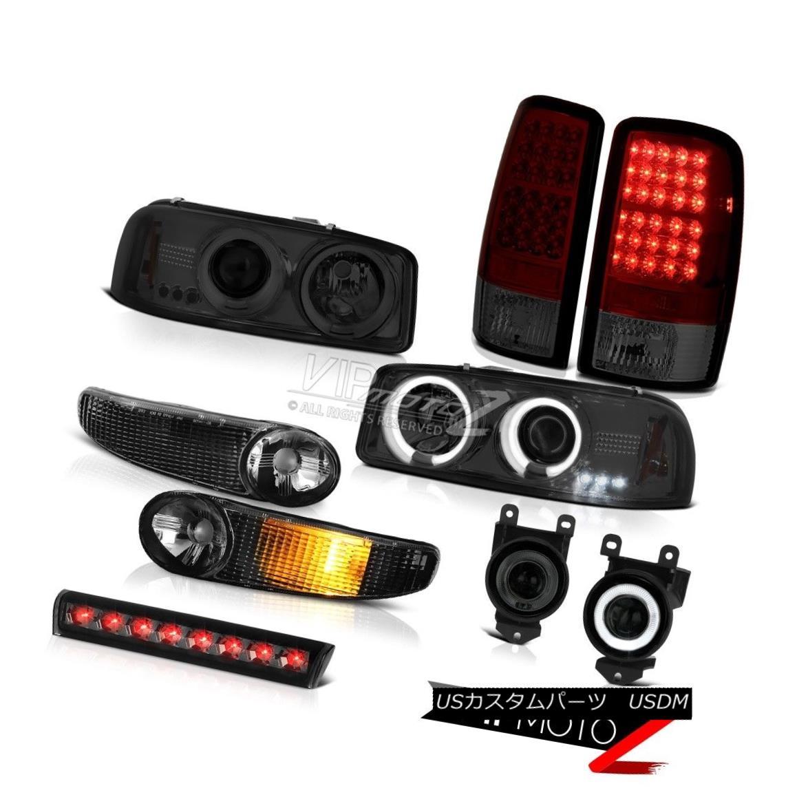 ヘッドライト Tinted CCFL DRL Halo Headlight LED Rear Brake Light Bumper FogLights 01-06 Yukon CCFL DRL HaloヘッドライトLEDリアブレーキライトバンパーFogLights 01-06ユーコン