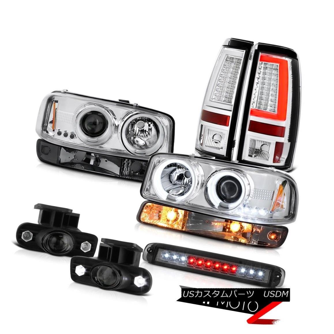 ヘッドライト 99-02 Sierra WT Tail Lamps Roof Cab Lamp Parking Fog CCFL Headlamps Tron STyle 99-02シエラWTテールランプルーフキャブランプパーキングフォグCCFLヘッドランプTron STyle