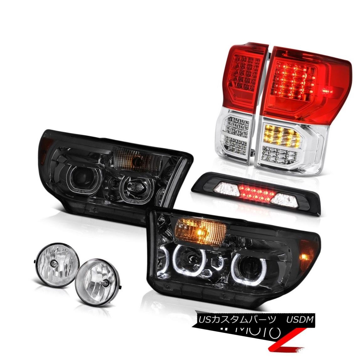 ヘッドライト 07-13 Toyota Tundra SR5 Tail Lights Headlights High Stop Lamp Foglamps Halo Rim 07-13 Toyota Tundra SR5テールライトヘッドライトハイストップランプフォグランプHalo Rim