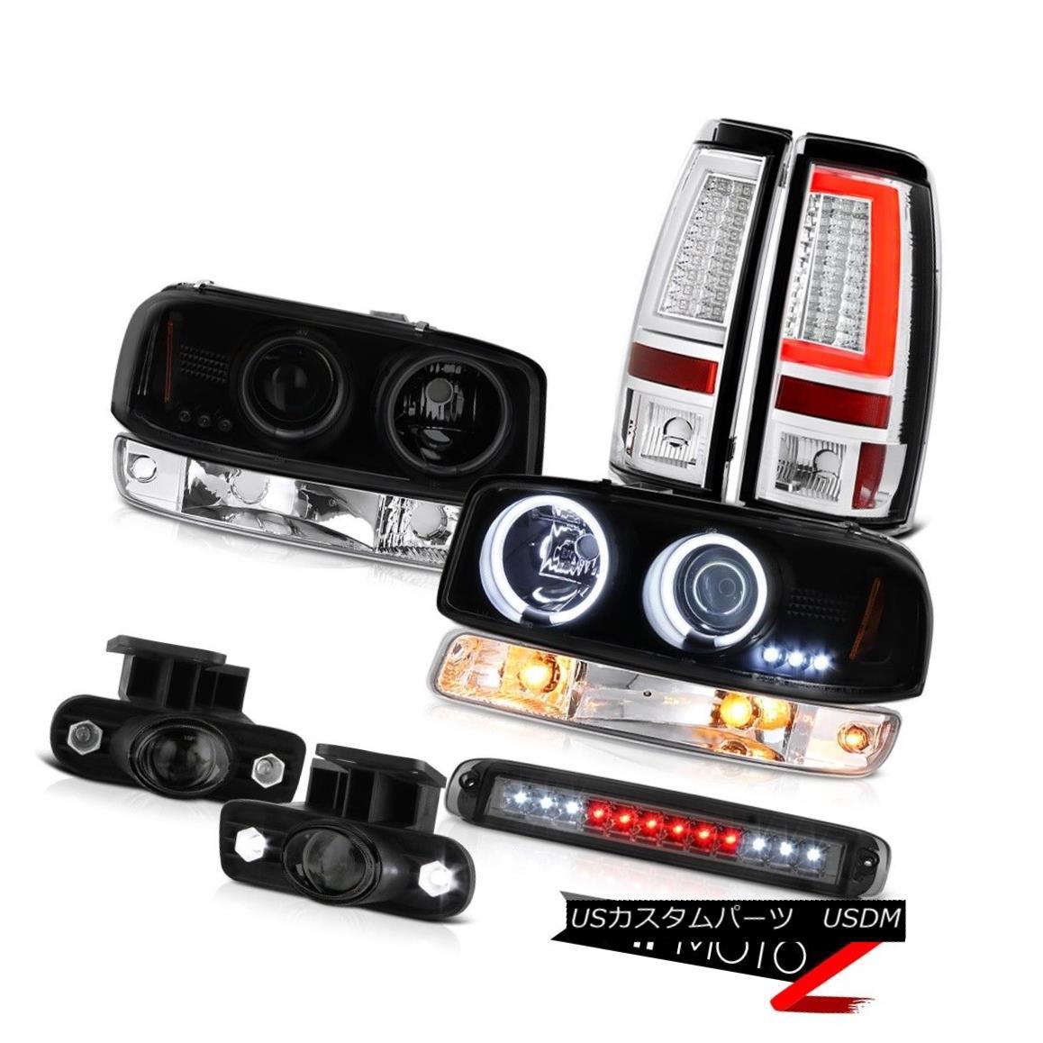 ヘッドライト 99-02 Sierra SL Tail Lamps Roof Cab Lamp Signal Fog CCFL Headlights LED Halo Rim 99-02 Sierra SLテールランプルーフキャブ・ランプ信号霧CCFLヘッドライトLED Halo Rim