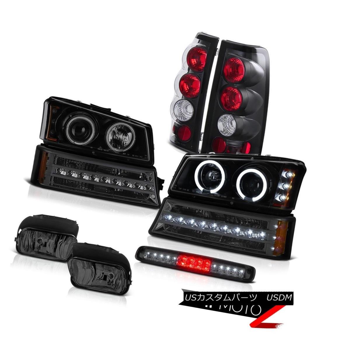 ヘッドライト 03-06 Silverado Smoked Foglamps 3RD Brake Light Signal Lamp Headlamps Tail Lamps 03-06 Silveradoスモークフォグランプ3RDブレーキライト信号ランプヘッドランプテールランプ