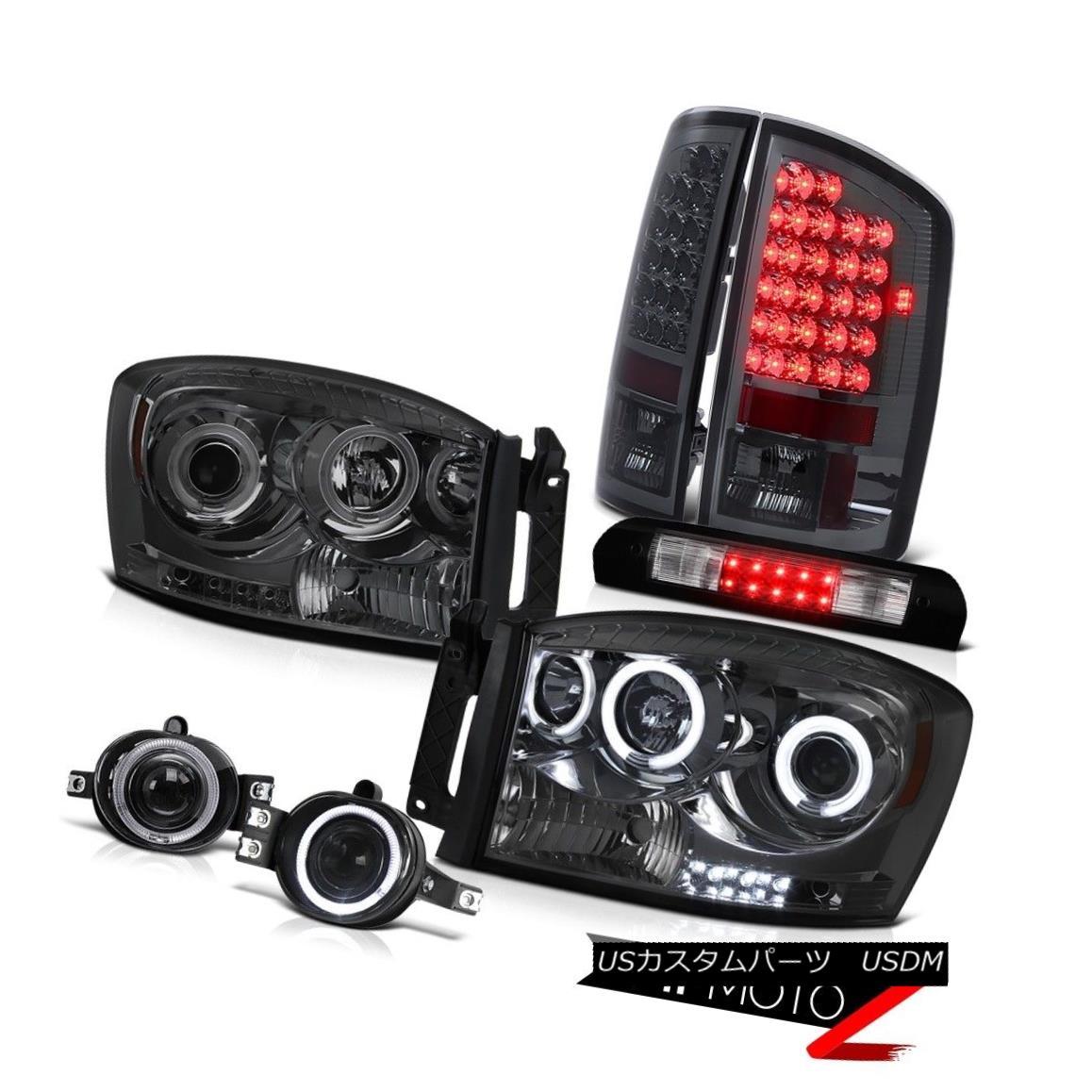 ヘッドライト Dual CCFL Headlights Smoked L.E.D Taillamps Foglamp High Stop LED Black 2006 Ram デュアルCCFLヘッドライトスモークL.E.DタイルランプFoglampハイストップLEDブラック2006 Ram