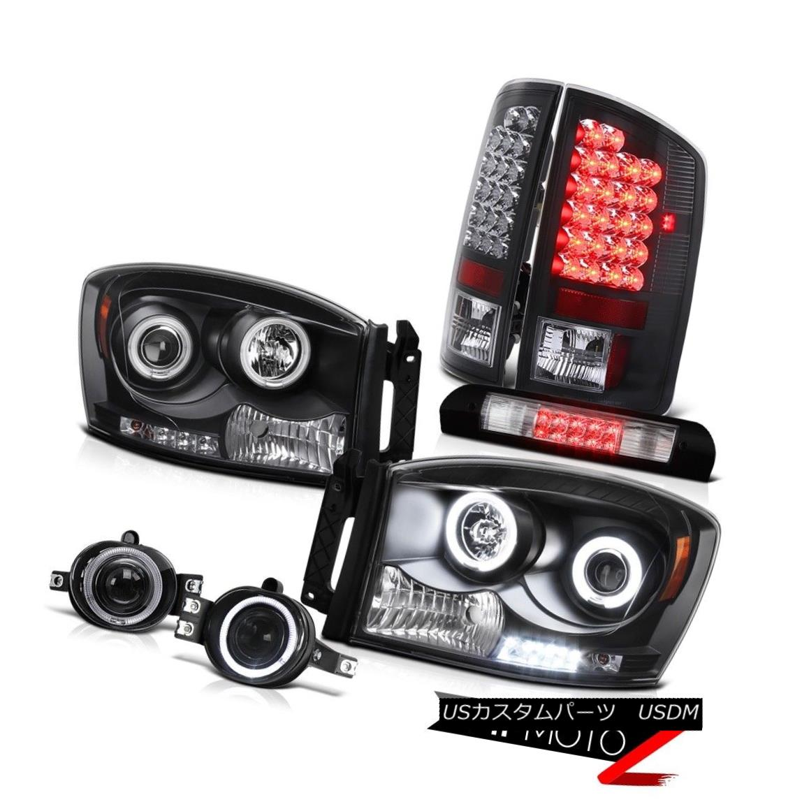 ヘッドライト 2007-2008 Ram 2500 CCFL Halo Headlights Black LED Tail Lights Foglights Cargo 2007-2008 Ram 2500 CCFL HaloヘッドライトブラックLEDテールライトFoglights Cargo