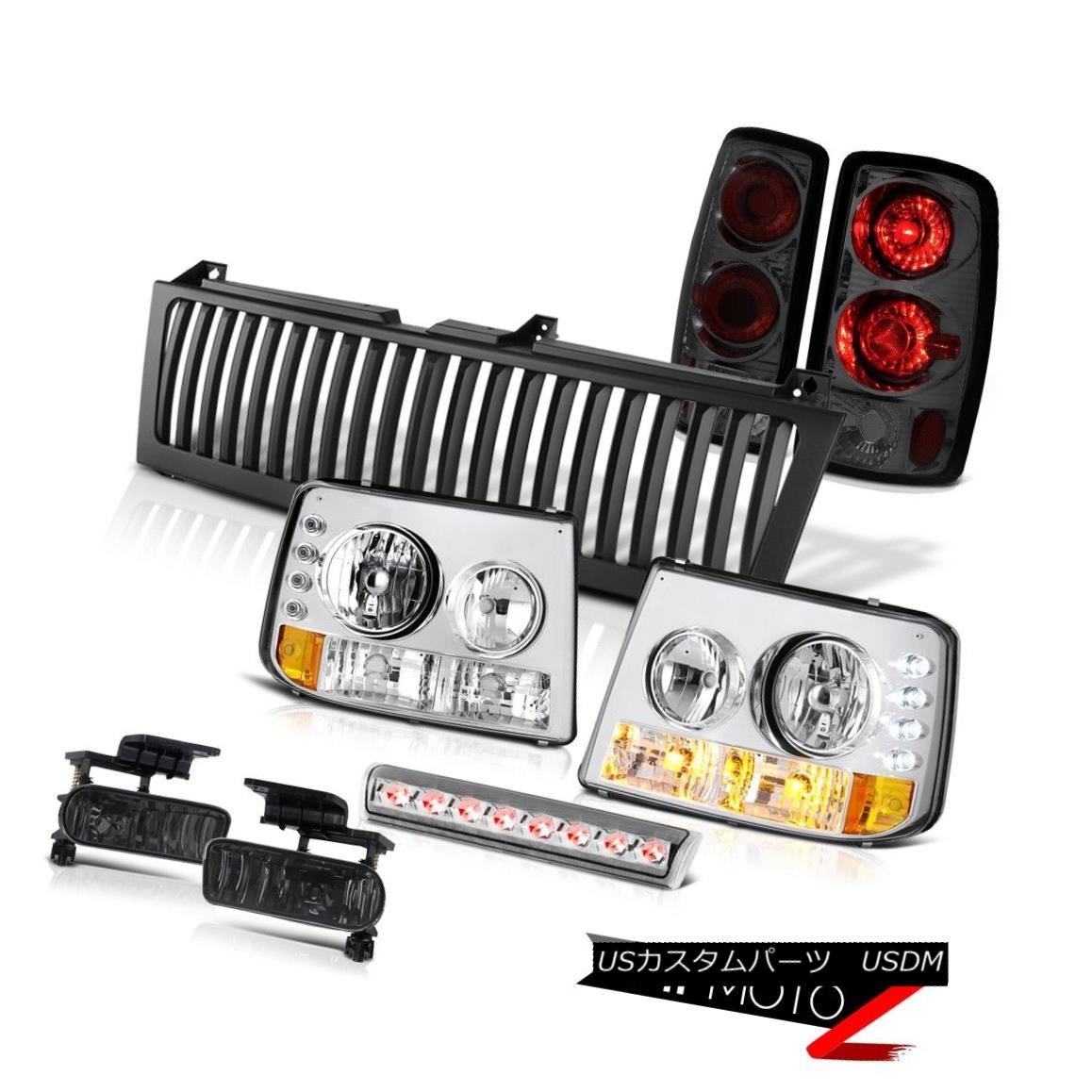 ヘッドライト Signal Headlamps Smoke Rear Brake Lamps Fog 3rd LED Black Grille 00-06 Tahoe LT シグナルヘッドランプスモークリアブレーキランプフォグ3rd LEDブラックグリル00-06タホLT